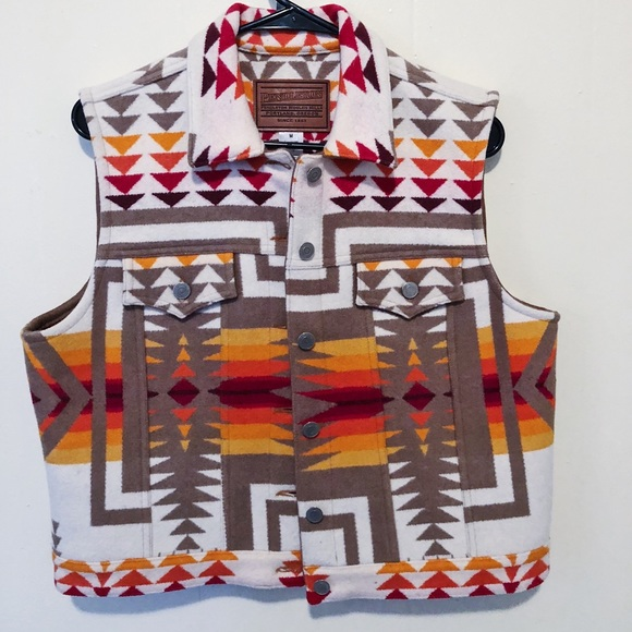 82a16465df Pendleton Jackets & Coats | Navajo Aztec Tribal Vest Made In Usa ...